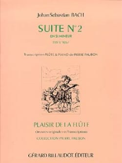 BACH - Suite n ° 2 in min. BWV 1067 - Piano Flute - Sheet Music - di-arezzo.co.uk