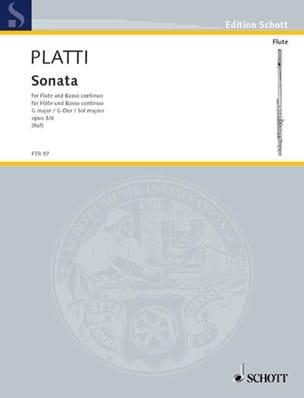 Giovanni Benedetto Platti - Sonate G-Dur op. 3 n° 6 – Flöte und Bc - Partition - di-arezzo.fr