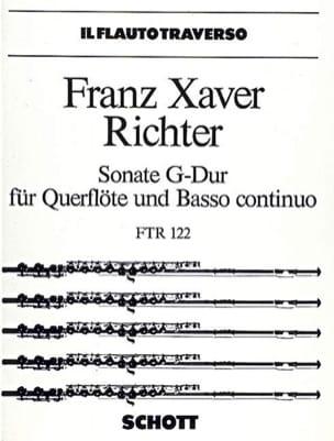 Sonate G-Dur - Flöte und Bc - Franz Xaver Richter - laflutedepan.com