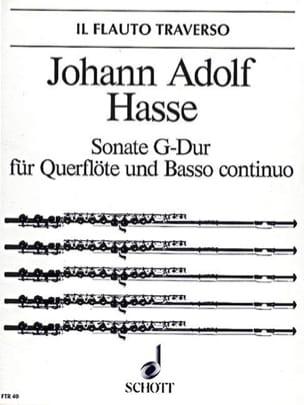 Sonate G-Dur - Flöte u. Bc Johann Adolf Hasse Partition laflutedepan