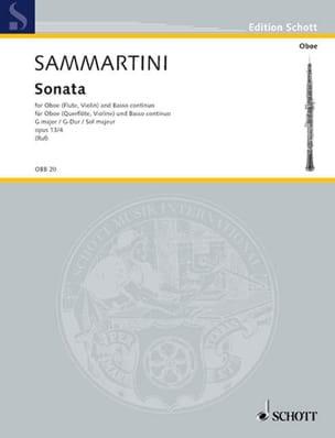 Sonate G-Dur, op. 13/4 -Oboe u. BC SAMMARTINI Partition laflutedepan