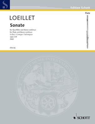 Sonate G-Dur op. 3 n° 8 - Flöte und Bc laflutedepan