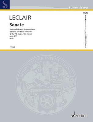 Sonate G-Dur op. 9 n° 7- Flöte und Bc LECLAIR Partition laflutedepan