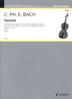 Carl Philipp Emanuel Bach - Sonate G-Moll, Wq 88 - Viola - Partition - di-arezzo.fr