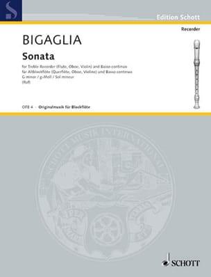 Diogenio Bigaglia - Sonate g-moll - Altblockflöte - Partition - di-arezzo.fr