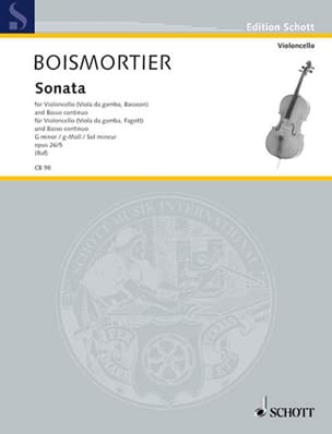 BOISMORTIER - Sonate g-moll , op. 26 n° 5 - Partition - di-arezzo.fr