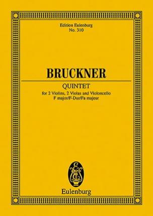 Anton Bruckner - Quintette en Fa Majeur - Partition - di-arezzo.fr