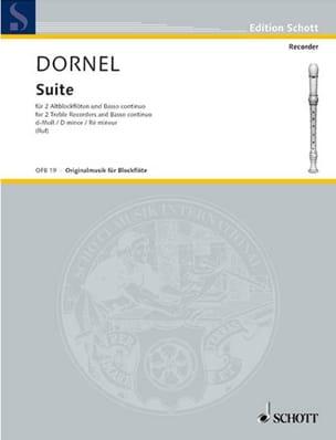 Antoine Dornel - Suite d-moll –2 Altblockflöten und BC - Partition - di-arezzo.fr