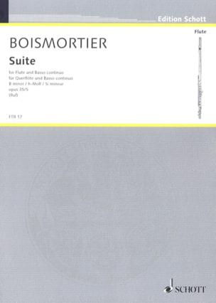 Suite h-Moll, op. 35 n° 5 - Flöte und Bc BOISMORTIER laflutedepan