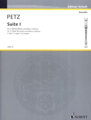 Johann Christoph Petz - Suite Nr. 1 C-Dur - 2 Altblockflöten BC - Sheet Music - di-arezzo.co.uk
