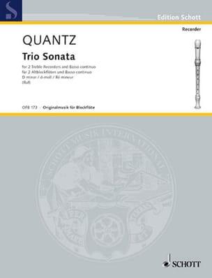 Johann Joachim Quantz - Trio Sonata d-moll –2 Altblockflöten u. Bc - Partition - di-arezzo.fr