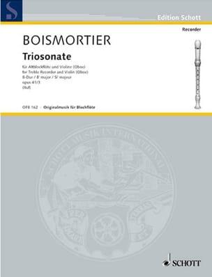 Triosonate B-Dur op. 41 n° 3 -Altblockflöte Violine Bc laflutedepan