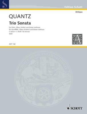 Triosonate c-moll -Flöte Oboe Violine Bc QUANTZ laflutedepan