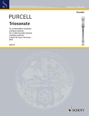 Daniel Purcell - Triosonate d-moll –2 Altblockflöten und BC - Partition - di-arezzo.fr