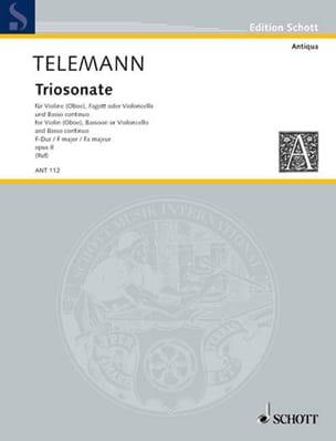 Triosonate F-Dur -Violine Fagott Bc - TELEMANN - laflutedepan.com