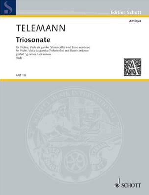 Triosonate En Sol Mineur - TELEMANN - Partition - laflutedepan.com