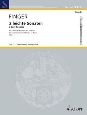 Gottfried Finger - 2 Leichte Sonaten - Altblockflöte u. BC - Sheet Music - di-arezzo.com