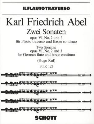 2 Sonaten, op. 6 Nr. 2 und 3 - Flöte Bc - laflutedepan.com