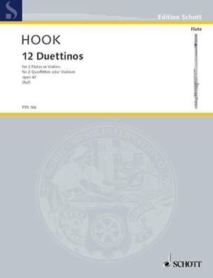 12 Duettinos op. 42 - 2 Flöten o. Violinen James Hook laflutedepan