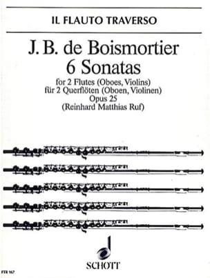 BOISMORTIER - 6 Sonaten op. 25 - 2 Flöten Oboen, Violinen - Partition - di-arezzo.fr