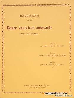 Heinrich Joseph Baermann - 12 Exercices amusants op. 30 - Partition - di-arezzo.fr