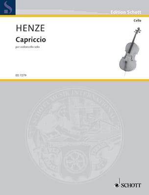 Capriccio Hans Werner Henze Partition Violoncelle - laflutedepan