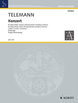 Georg Philipp Telemann - Konzert c-moll –Oboe Klavier - Partition - di-arezzo.fr