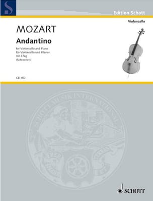 Andantino KV 374b MOZART Partition Violoncelle - laflutedepan