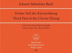 Johann Sebastian Bach - Orgelwerke. Urtext der Neuen Bach-Ausgabe. Band 4. Dritter Teil der Klavierübung - Partition - di-arezzo.fr