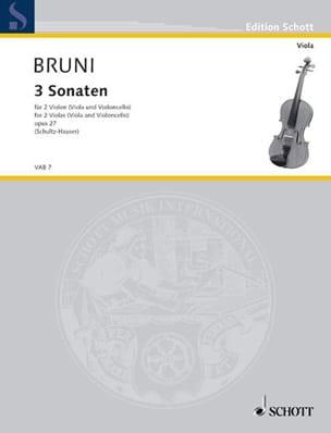 Antonio Bartolomeo Bruni - 3 Sonaten op. 27 - Partition - di-arezzo.fr