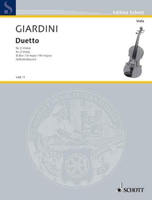 Duetto D-Dur - Felice de Giardini - Partition - laflutedepan.com