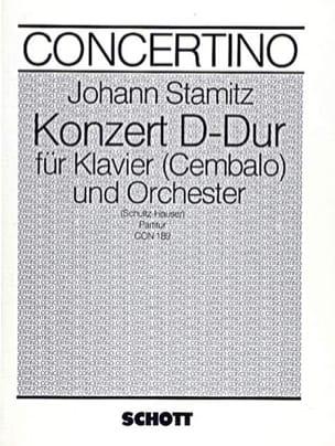 Klavier-Konzert D-Dur – Partitur - Johann Stamitz - laflutedepan.com