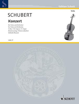 Joseph Schubert - Konzert C-Dur for Viola - Viola Klavier - Sheet Music - di-arezzo.co.uk