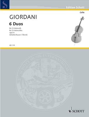 Tommaso Giordani - 6 Duos, op. 4 - Partition - di-arezzo.fr
