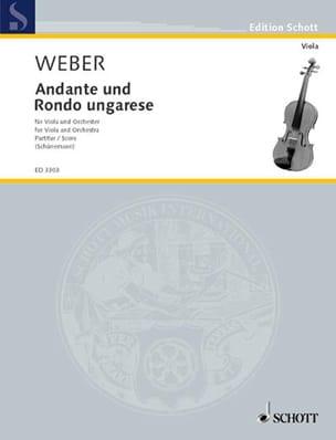Carl Maria von Weber - Andante und Rondo ungarese - Partitur - Sheet Music - di-arezzo.co.uk