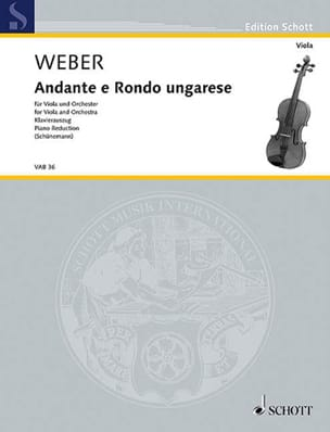 Carl Maria von Weber - Andante e Rondo Ungarese - Sheet Music - di-arezzo.co.uk