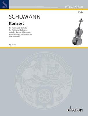 SCHUMANN - Konzert D-Moll für Violine - Partition - di-arezzo.fr