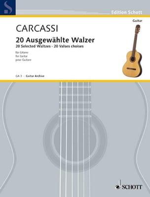 20 Ausgewählte Walzer - Matteo Carcassi - Partition - laflutedepan.com
