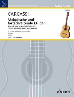 Matteo Carcassi - Melodic and progressive studies op. 60 - Sheet Music - di-arezzo.co.uk