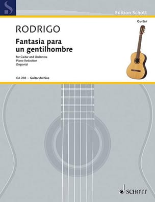 Joaquín Rodrigo - Fantasia Para a Gentleman - Sheet Music - di-arezzo.co.uk