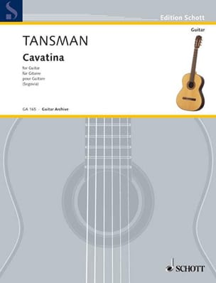 Cavatina - Alexandre Tansman - Partition - Guitare - laflutedepan.com