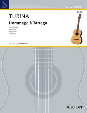 Joaquin Turina - Hommage à Tárrega - Partition - di-arezzo.fr