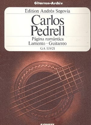 Carlos Pedrell - Página romántica - Lamento - Guitarreo - Sheet Music - di-arezzo.com