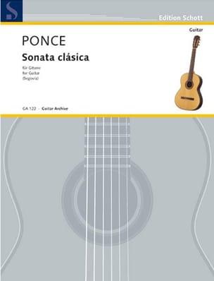 Sonata clássica - Manuel Maria Ponce - Partition - laflutedepan.com