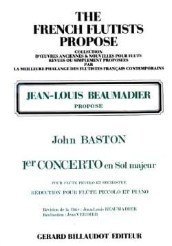 Concerto n° 1 en sol majeur - Flûte piccolo John Baston laflutedepan