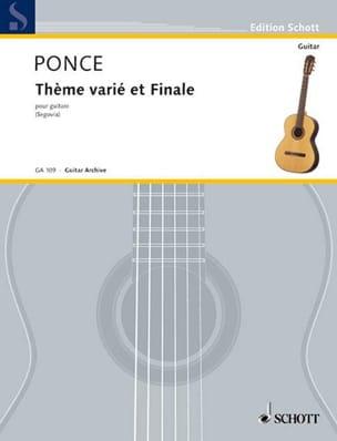 Thème varié et Finale Manuel Maria Ponce Partition laflutedepan