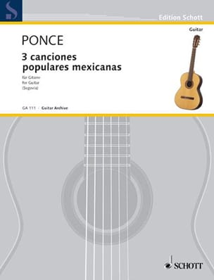 Manuel Maria Ponce - 3 Canciones populares mexicanas - Sheet Music - di-arezzo.co.uk
