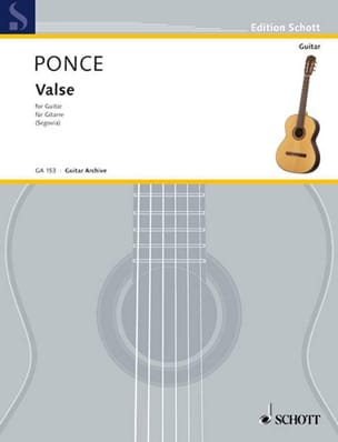 Manuel Maria Ponce - Valse - Partition - di-arezzo.fr