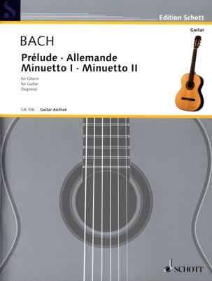 BACH - Prelude - German - Minuetto 1 u. 2 - Gitarre - Sheet Music - di-arezzo.com