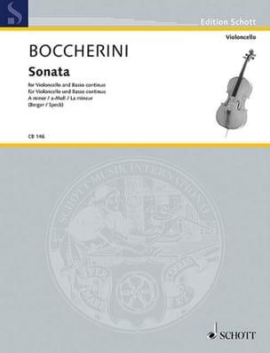 Sonate en la mineur - Luigi Boccherini - Partition - laflutedepan.com